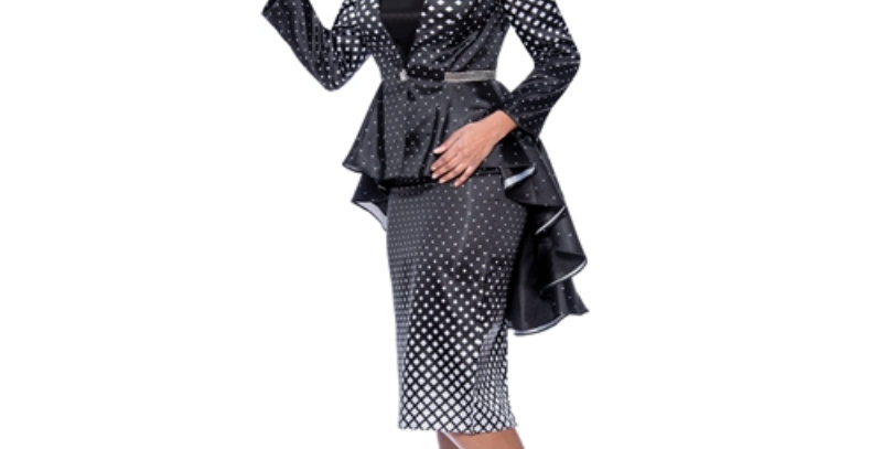 278244 -  3Pcs Suit  - Polka Dot High-Low
