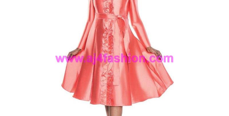 136934 - 1Pc Dress - Coral