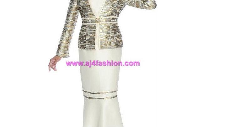 273704 - 3 Pcs Suit Champagne Multi