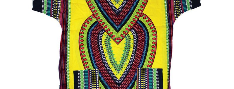 AJ4F55U919-Heart Of Africa Dashiki  - Gold