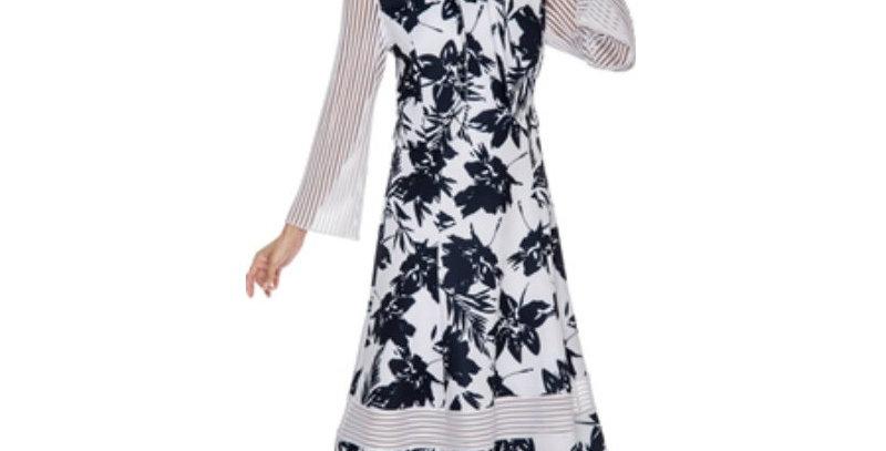 3932    - 2 Pcs Dress & Jacket by Nubiano - Floral Print