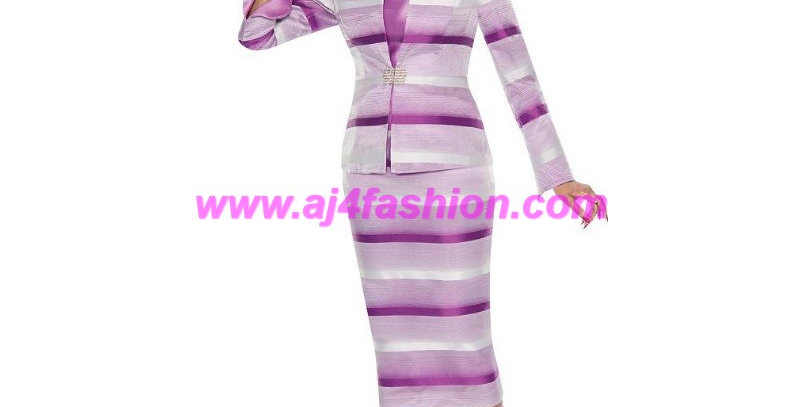 137094 -3Pcs Suit Plus Hat-Lavender