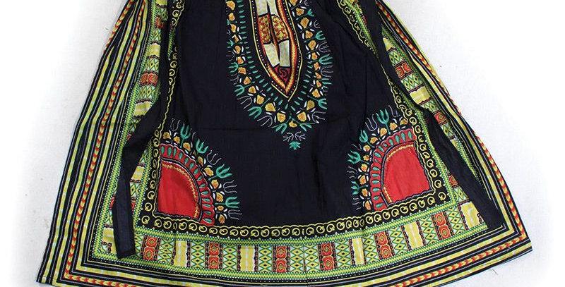 AJ4F369-WS932-Black-Traditional Pleated Skirt