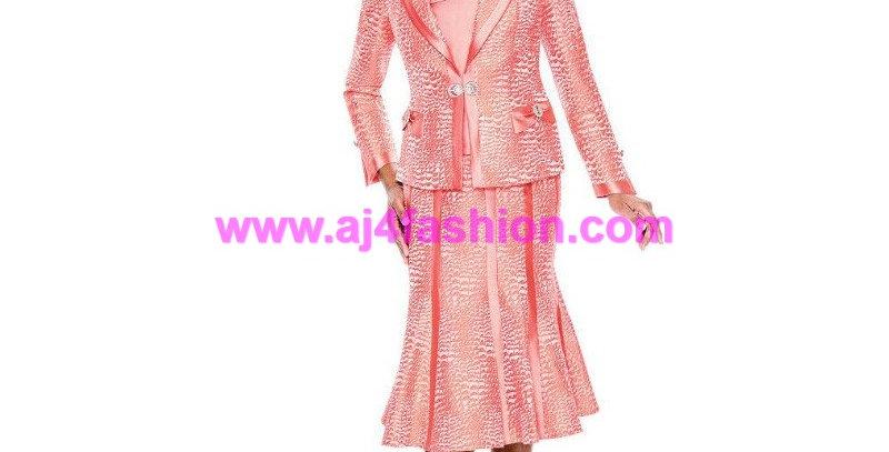 136914 - 3 Pcs Suit- Coral