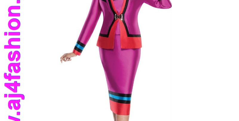 275774 - Suit-Fuchsia/Multi-3 Pcs