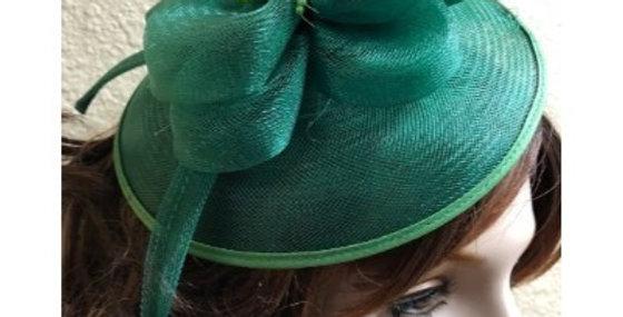 AJ4F340 Hat-Green- Headpiece with Net