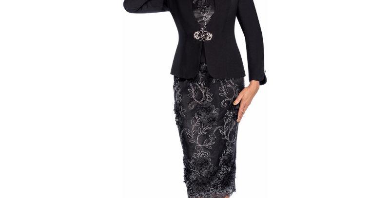 138144 - 3pcs Suit - Black