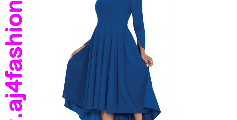 137534 - 1Pc Dress - Royal