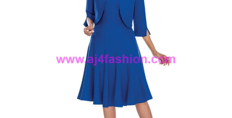 273444 - 2 Pcs Dress/Jacket - Royal