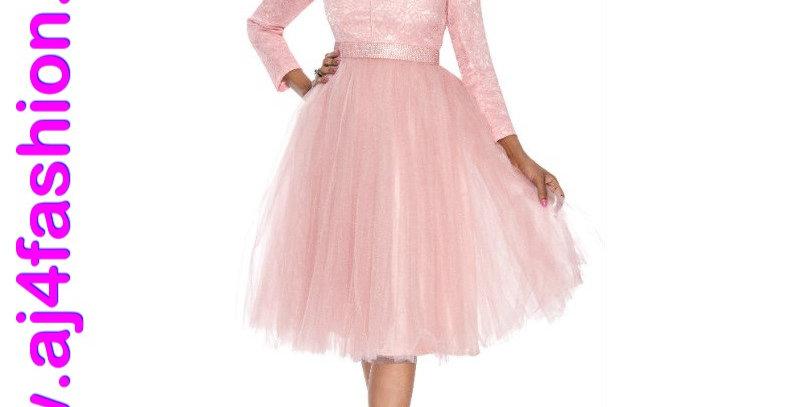 137654  - 1Pc Dress -Mauve
