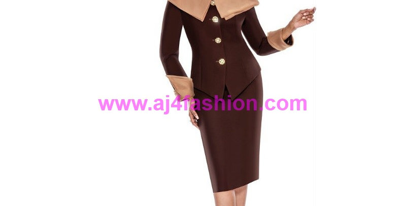 274084 -2 Pcs Suit- Chocolate