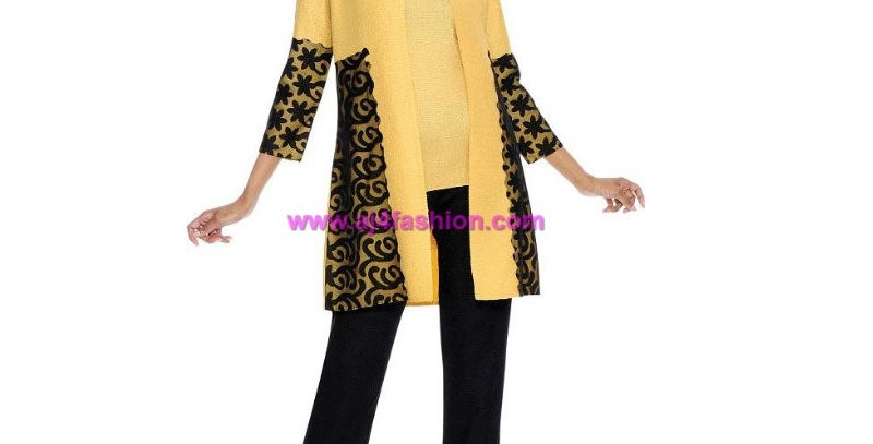 136314 -3 Pcs Pant Set -Yellow/Black