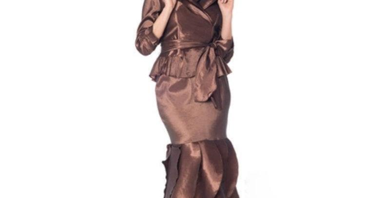 Moshita 6237 Taffeta 2pc Skirt Set -ONLY IN ROSE COLOR