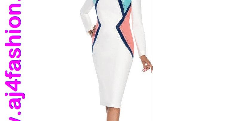 137824 - 1Pc dress - Pearl/Multi
