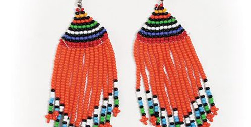 AJ4F323 Kenyan Massai Earrings JE635