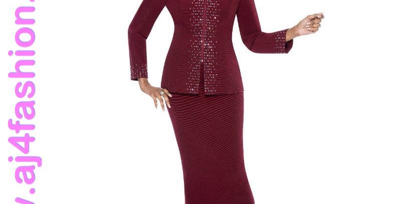 137274 - 2 Pcs Suit-Burgandy