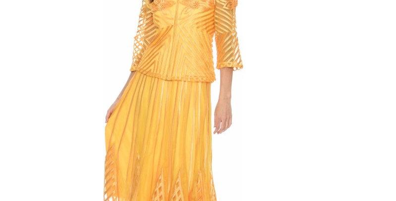 135904- 2 Pcs Skirt set - Coral