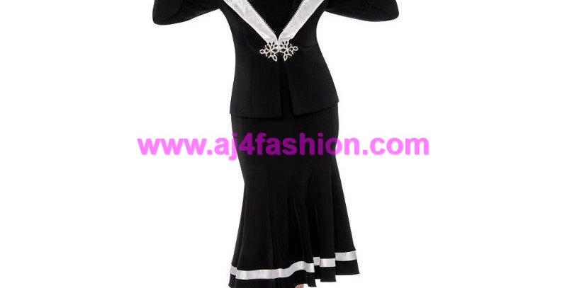136904 - 3 Pcs Suit - Black/White