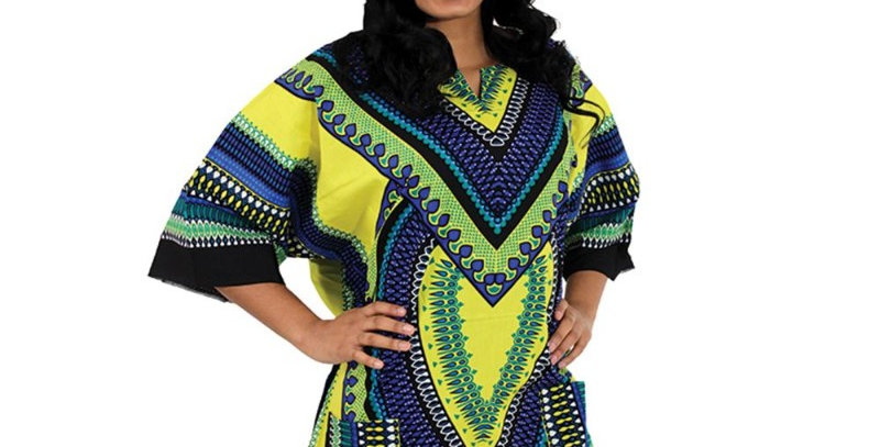 AJ4F55U919-Heart Of Africa Dashiki-Yellow