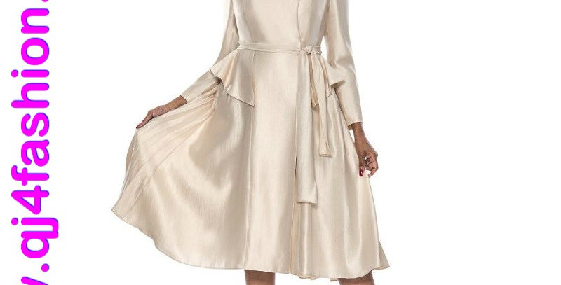 136954 - 1Pc Dress - Champagne