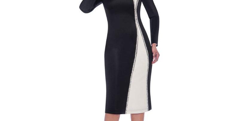 277894 - 1 Pc Dress - Black/White