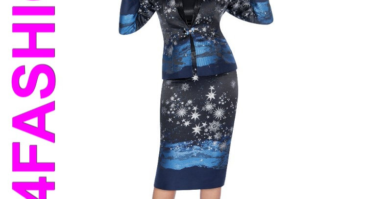 138814 - 3Pcs Suit - Blue Multi
