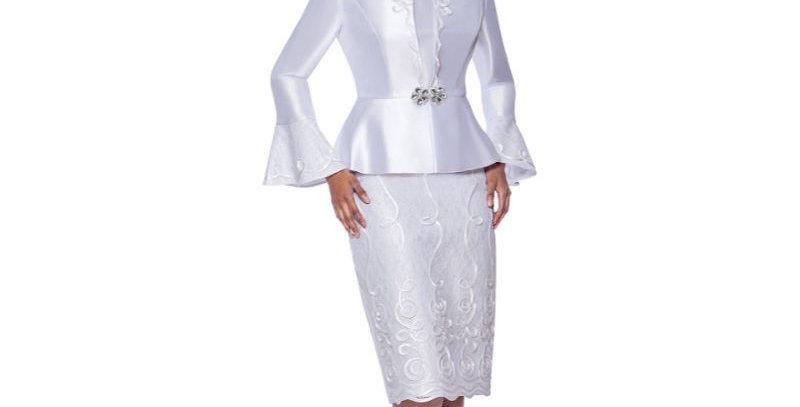 139574 - 3 Pcs Suit Plus Hat - White