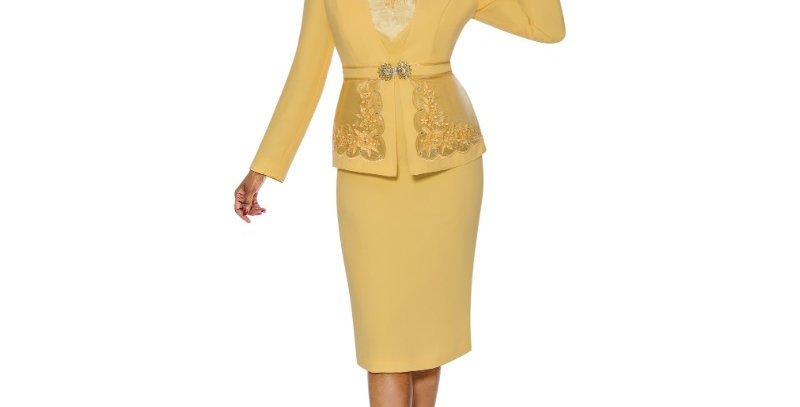 138894 -3Pcs Suit - Yellow