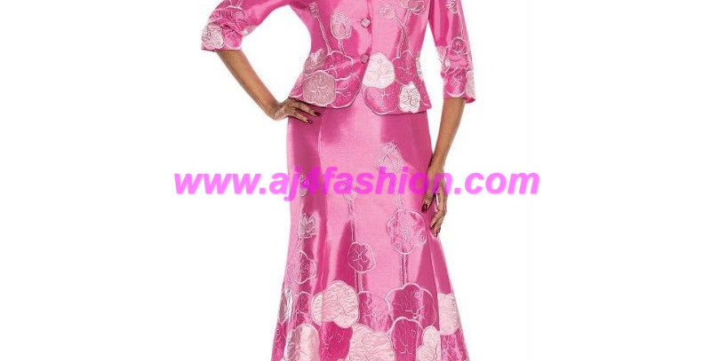 275284 - 2 Pcs Dress & Jacket - Rose Petal
