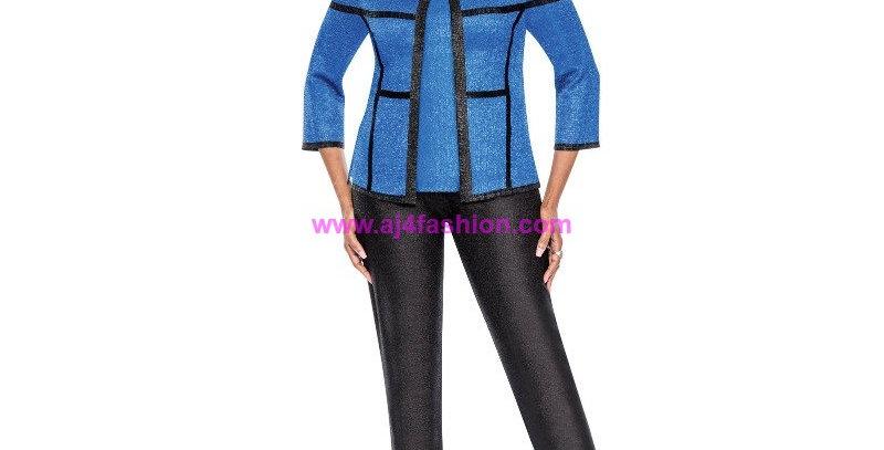 136784 - 3 Pcs Pant set - Royal Blue(Reversible Cami)