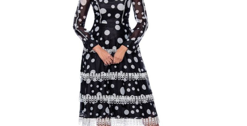 278354 - 1 Pc Dress - Black/White