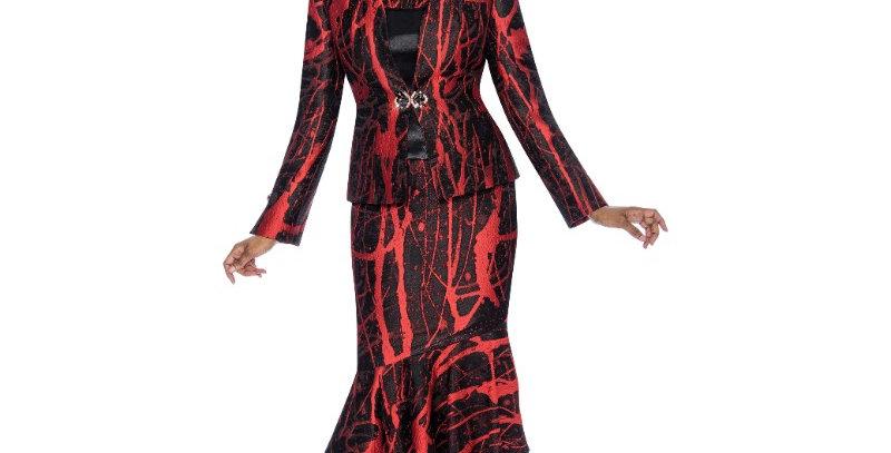 138724 - 3 Pcs Suit - Red Black