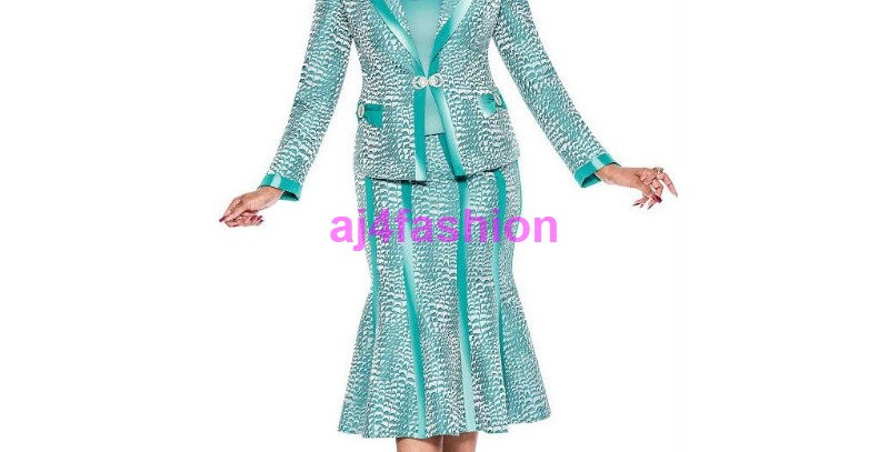 136914 - 3 Pcs Suit Plus Hat - Teal