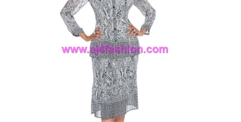 136334 - 2 Pcs Skirt Set -Print for hot season(Blue & White)