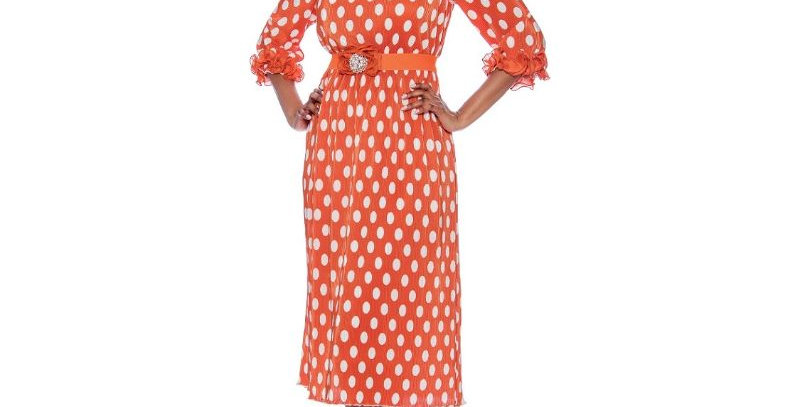 278154 - 1 Pc Dress - Orange