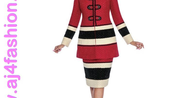 136394 -2 Pcs Dress Jacket -Red/Gold