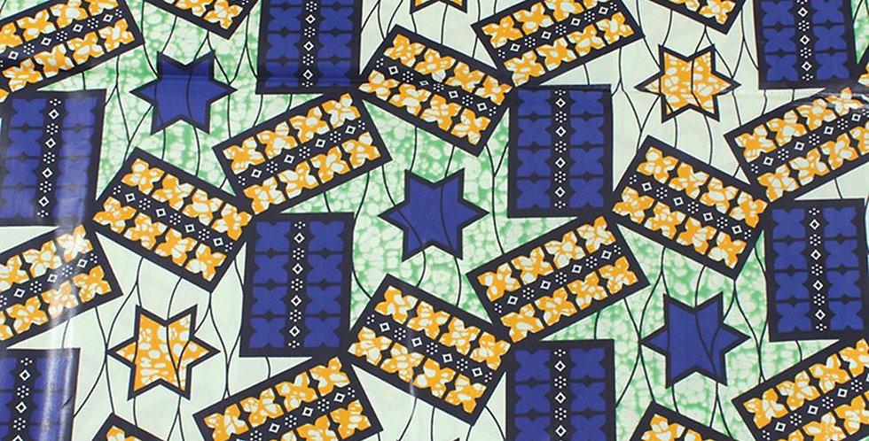 African Fabric - AJ4F312 T-4149 Blue/Orange