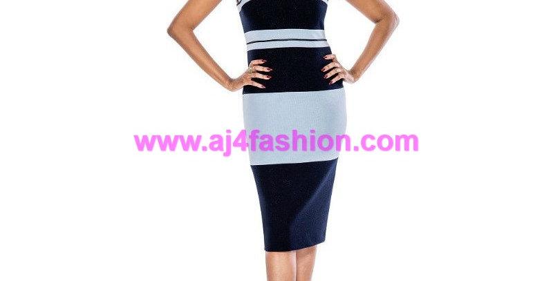 137154 - 2 Pcs Dress & Jackets - Knit - Blue/Navy