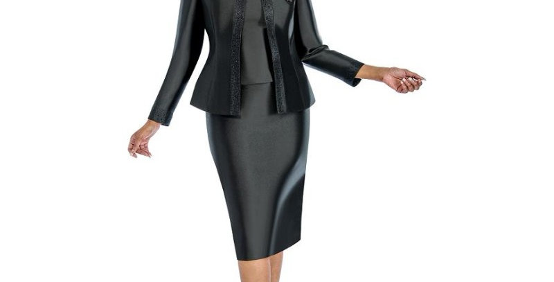 276374 - 3Pcs Set Suit - Black