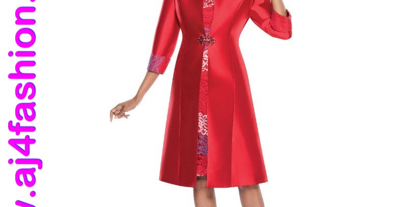 137134 - Dress & Jacket Plus Hat-Red Multi