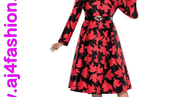 137344 - 1Pc. Dress-Red/Black
