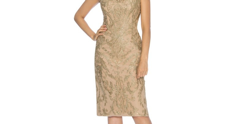 386684 - Dress for Special Occasion -Gold