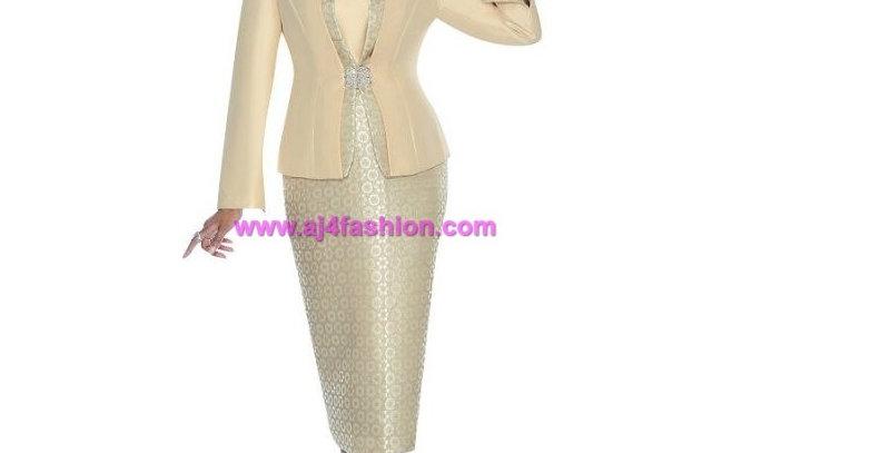 274544 -2 Pcs Suit- Champagne