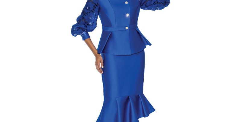 277444 -2Pcs Suit Plus Hat- Royal