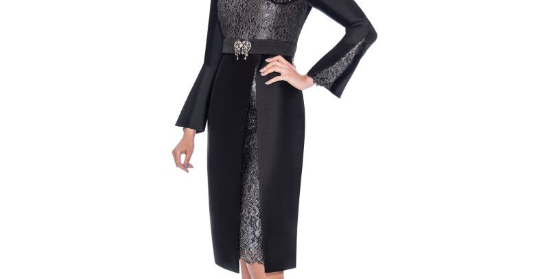 277714 -1Pc Dress - Black