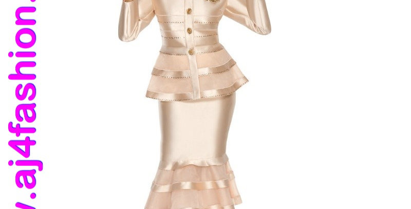 137764 - 2 Pcs Suit - Champagne