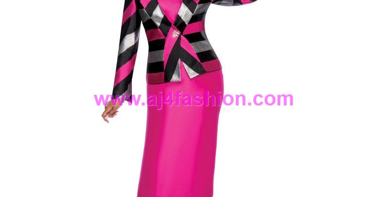 274894 - 2 Pcs. Suit -  Fuchsia/Black
