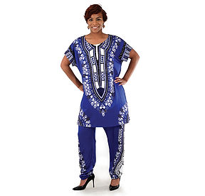 AJ4F326 Traditional Print Pant Set CWS83