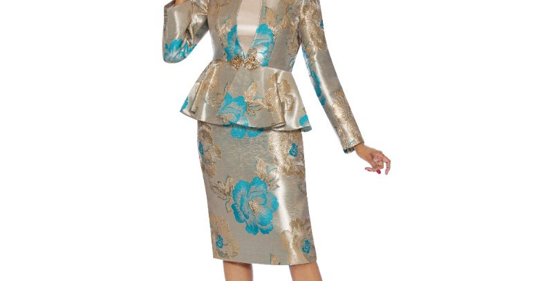 138454 - 3 Pcs Suit - Turquoise