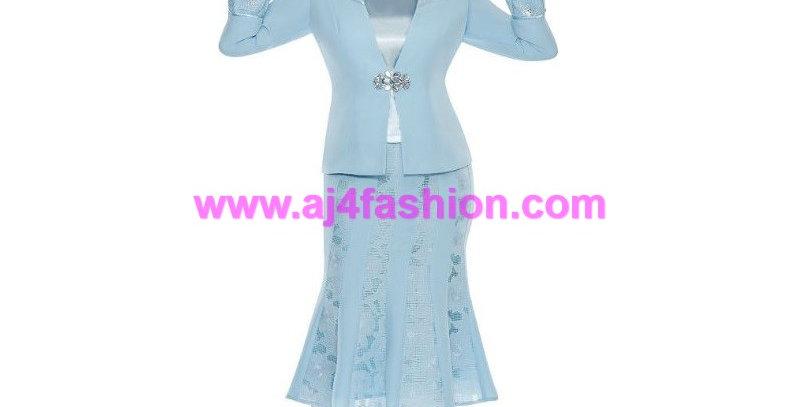 136884 - 3 Pcs. Suit Plus Hat -Blue